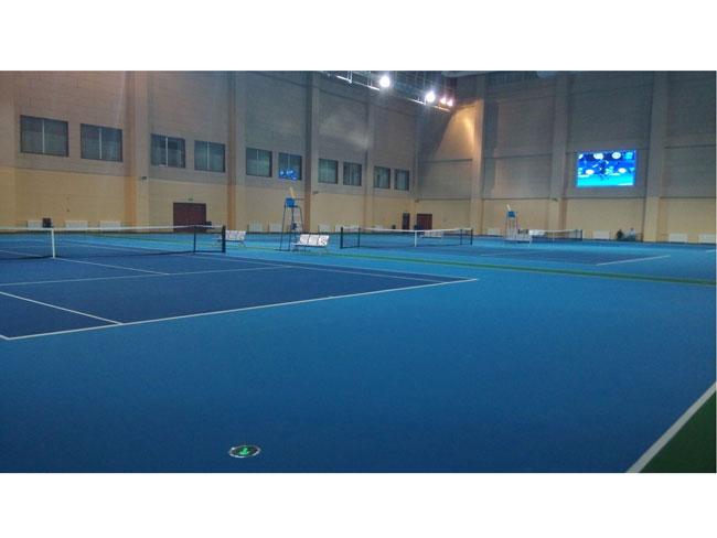 兖州体育中心体育馆,游泳馆看台聚脲防护工程